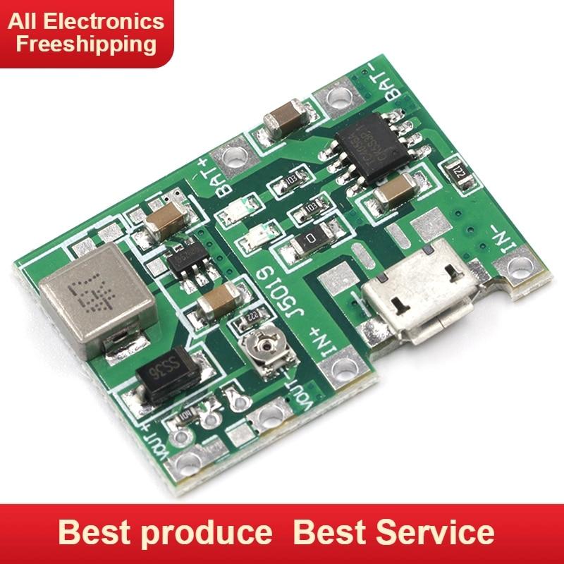 Redelijk Nieuwe Lithium Li-ion 18650 3.7 V 4.2 V Batterij Oplader Board Dc-dc Step Up Boost Module Tp4056 Diy Kit Onderdelen Om Tot De Eerste Te Behoren Onder Vergelijkbare Producten