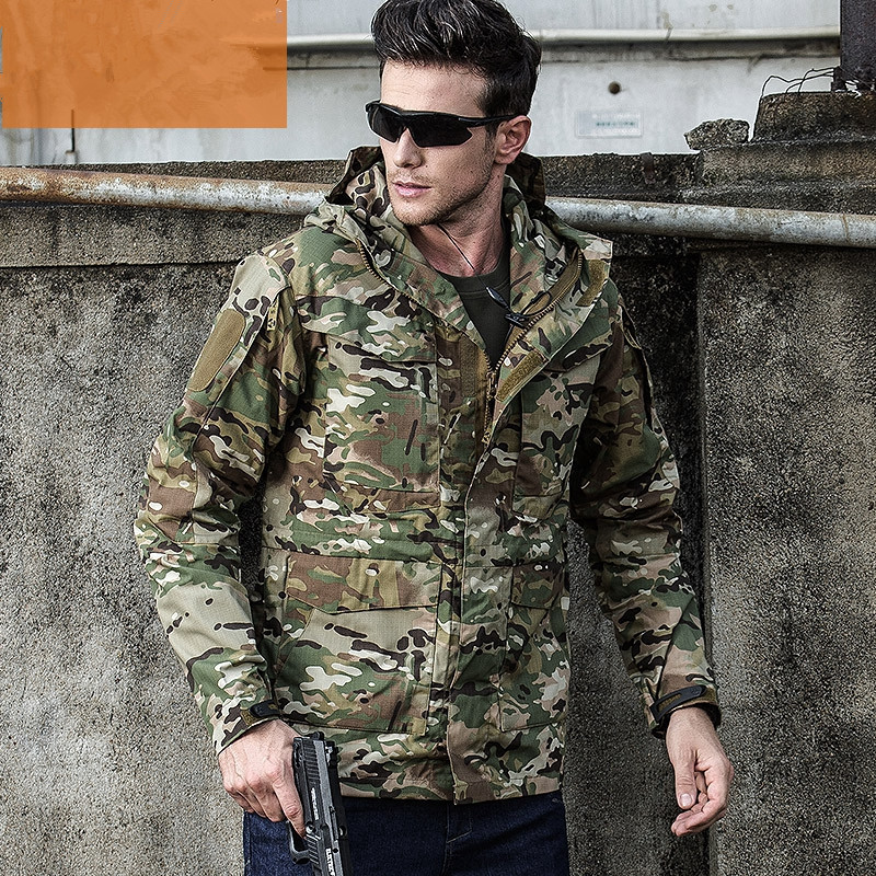Urban Tactical Training Military M65 Windbreaker Mens Winter Outdoor Hiking Shooting Climbing Riding Windproof Warm Coat Jacket-in Hiking Jackets from Sports & Entertainment    3