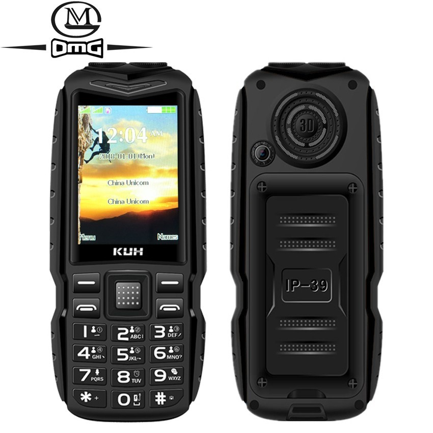 Russian Keyboard FM Mobile Phone 3800mAh Battery Power Bank Dual High Flashlight Quick Dial Rugged Dual Sim Cell Phones KUH T3