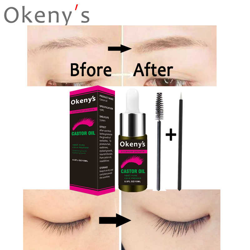 e6946d79e48 ... 15ml Castor Oil Eyebrow Growth Serum Hair Growth Serum Eyelash Enhancer  Growth Lifting Eyelashes Thick Eye ...