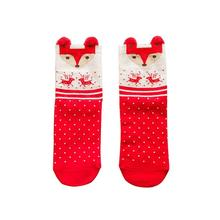 2019 Women Sock Winter Warm Christmas Gifts Stereo Socks Soft Cotton Cute Santa Claus Deer Xmas
