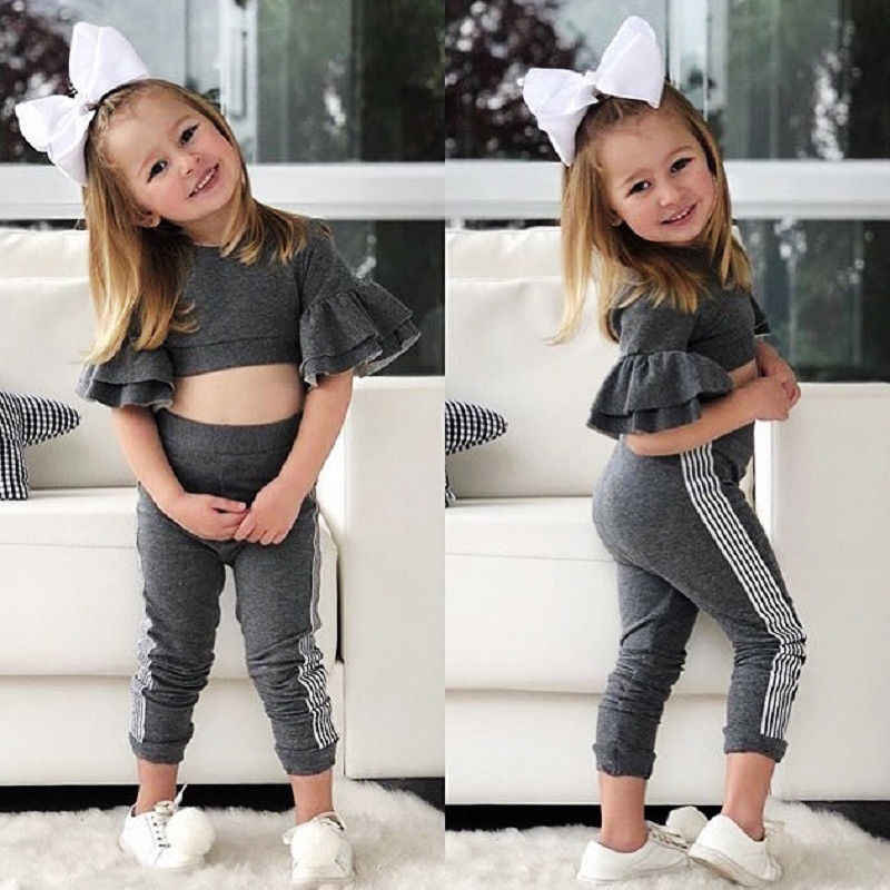 d588e485e0bf4 Detail Feedback Questions about Toddler 2Pcs Girls Clothes Kids Baby Slim  Fit Flare Sleeve Tops Pants Leggings Baby Girl Clothes Autumn Outfits  Girlymax Set ...