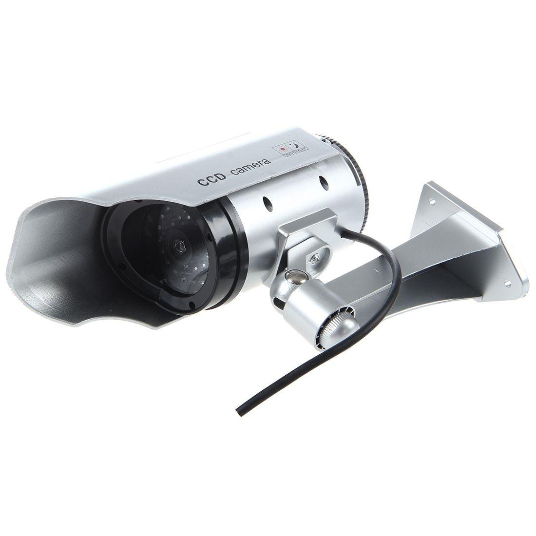Reasonable Ig-udc 4 Silver Fake Security Camera With 30 Illuminating Leds silver Fragrant Aroma