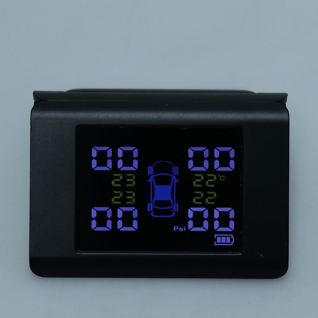 Système de surveillance d'alarme de pression de pneu sans fil TPMS de haute qualité avec 4 capteurs externes électronique de voiture