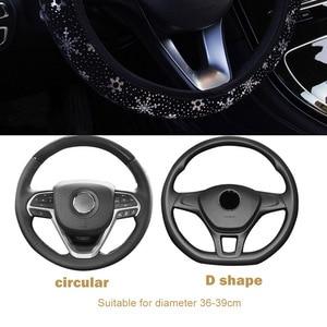 Image 3 - Leepee Diameter 38Cm Auto Stuurwiel Covers Auto Stuurhoes Glanzende Sneeuwvlok Auto Accessoires Universele 4 Kleuren