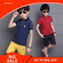 Children Clothes Summer Baby Boys  Shirt+Shorts Outfit Kids Sport Suit Toddler Clothing Sets