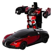 Трансформирующий RC пульт дистанционного управления робот трансформация Bugatti Rambo автомобиль игрушечная электрическая машина модель с жестом зондирования электронная игрушка автомобиля