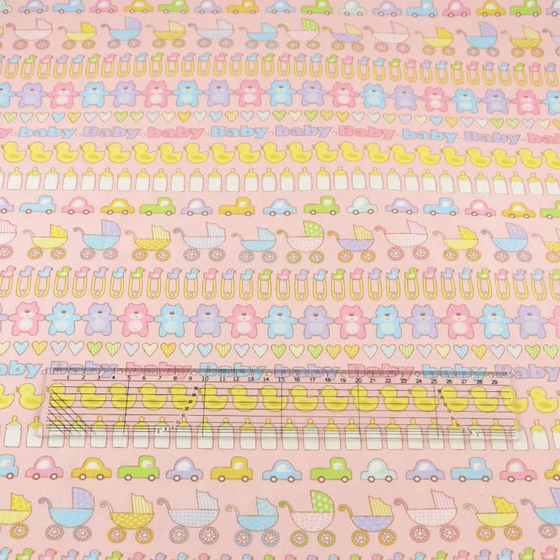 Tissu Textile pour bébé rose imprimé | Tissu de couture, tissu de coton cousue, literie Tela, Scrapbooking décoration, poupées pour enfants