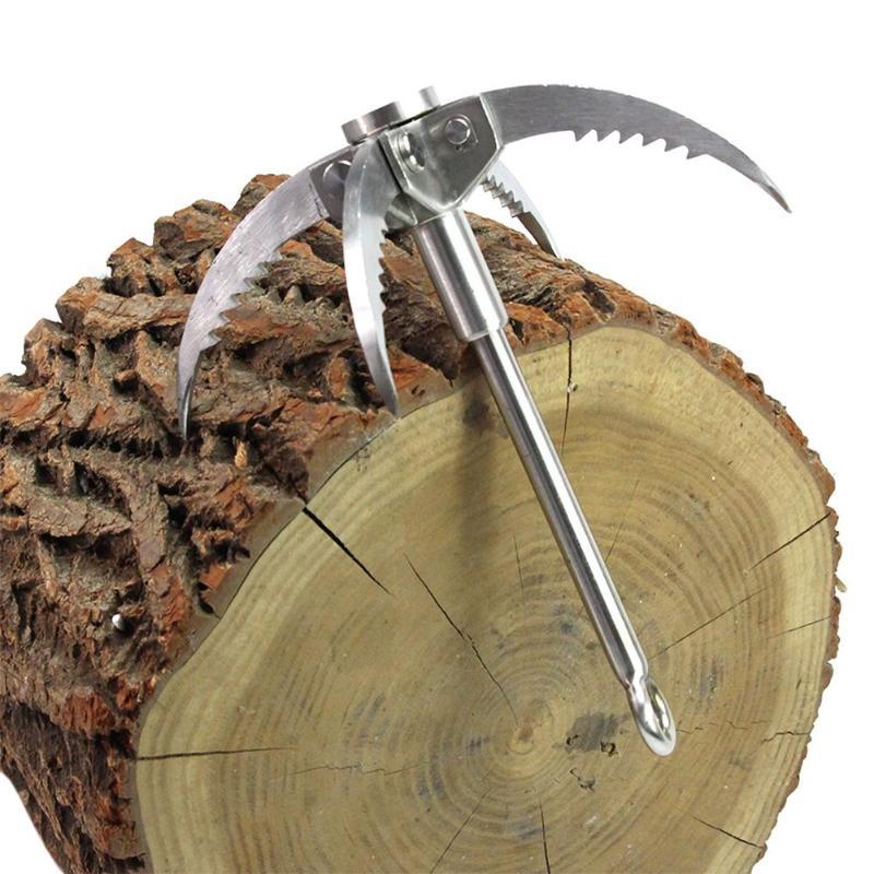 Grappin crochet pliant survie griffe multifonctionnel en acier inoxydable crochet pour Camping en plein air randonnée arbre escalade - 2