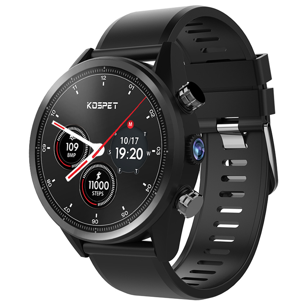 Kospet Hope 4G Smartwatch Phone 1.39 Waterproof Android 7.1 MTK6739 1.3GHz 3GB 32G 8.0MP Cam Built-In 620mAh Heart Rate Monitor image
