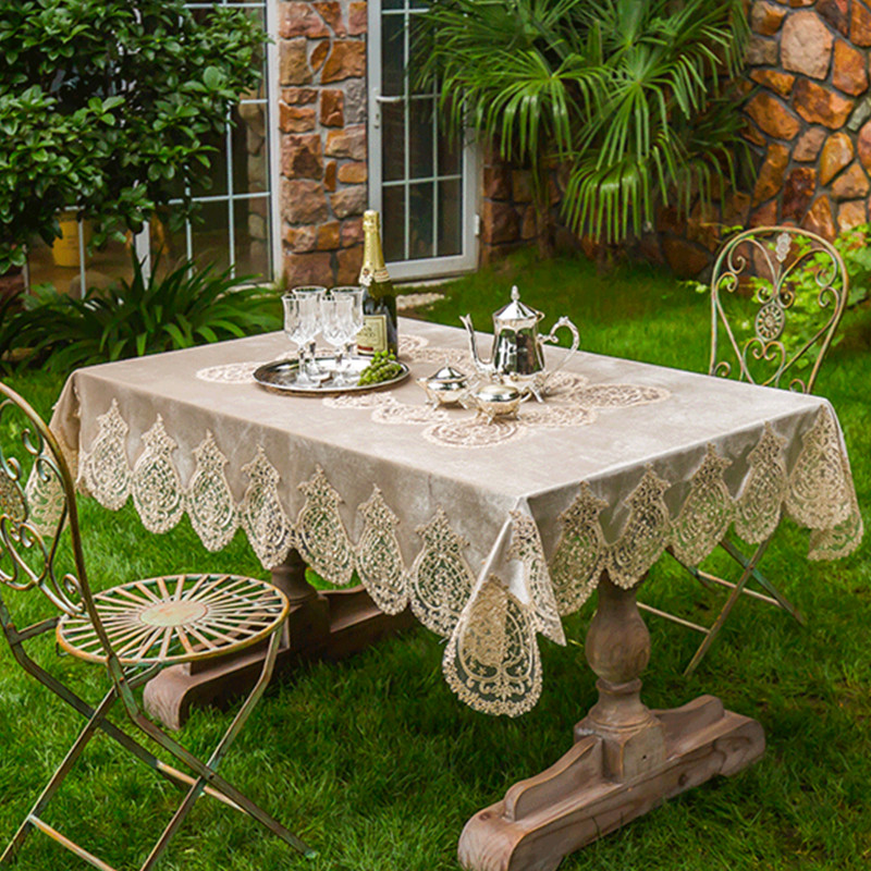 White Tablecloth Elegant Lace Table Cover Dining Room Restaurant Table  Setting Wedding Holiday Event Catering Tablescapes P30 In Tablecloths From  Home ...