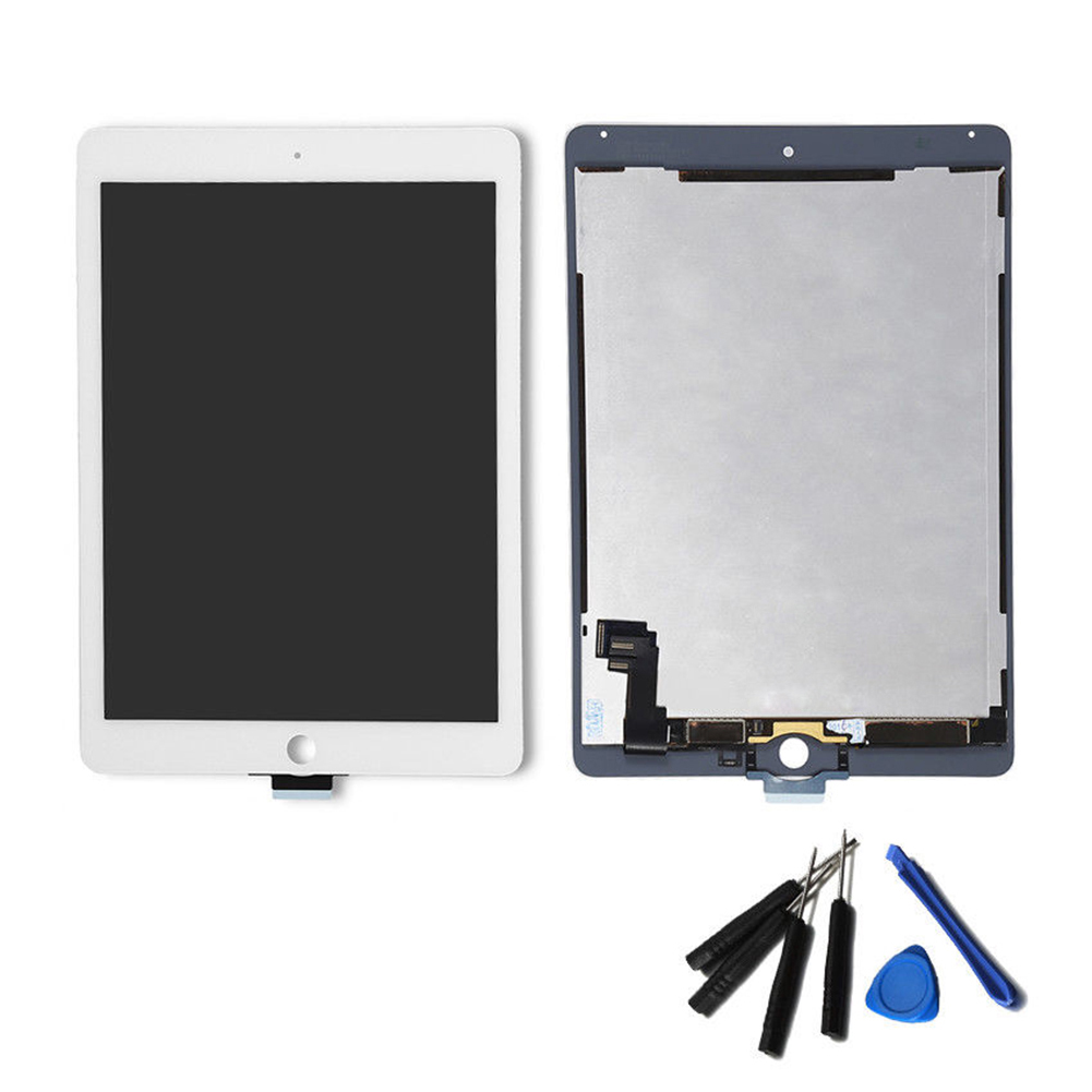 Apple iPad 2017 5th Gen Touch Screen Digitizer Glass Home Button Adhesive White