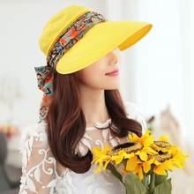 Las mujeres verano anti-UV sombrero de sol cubierta de playa plegable  protector solar Floral 09969500ace