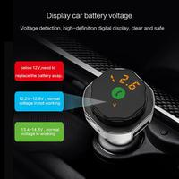 AP06 Metal Wireless Bluetooth Car Kit FM Transmitter AUX Modulator Handsfree Car Kit MP3 Player USB Charger with Safety Hammer