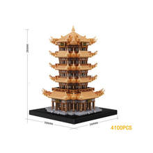 hot LegoINGlys creators city Street view Ancient Chinese architecture Yellow Crane Tower micro diamond building blocks toys gift(China)
