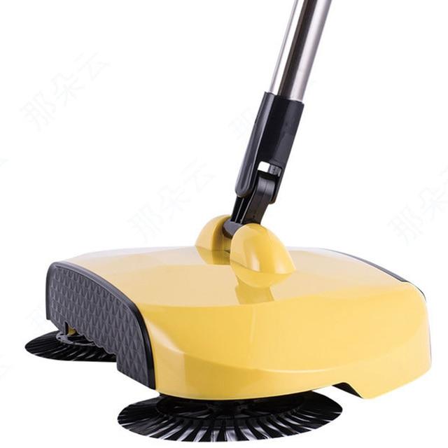 360 Spin Household Hand Push Sweeping Broom Room Floor Dust Sweeper Cleaner Mop