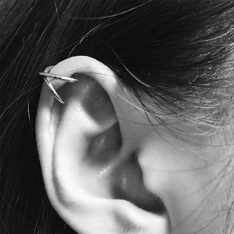 Sale Wrap No Piercing Earrings Clips Personality Cartilage Ear Clip Girls T Letter Earrings Women Studs Dropshipping monochrome