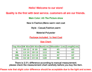 Image 5 - Men Winter Down Quilted Vest Body Warmer Warm Sleeveless Padded Jacket Coat