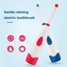 1 шт. автоматическая электрическая зубная щетка IPX7 Водонепроницаемая ультразвуковая вращающаяся зубная щетка с 2 щеточными головками электрическая зубная щетка для взрослых