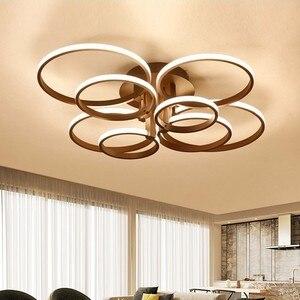 Image 1 - Современные светодиодные люстры, светильники с дистанционным управлением, осветительные приборы для помещений, черные кольца, лампы для гостиной, спальни