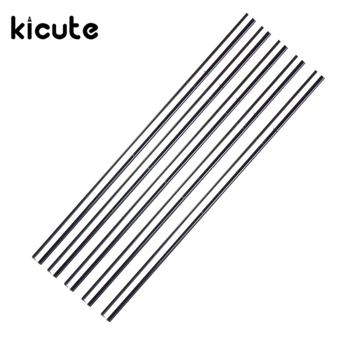 KiCute 5pcs Laboratory 150mmx5mm Transparent School Tools Glass Buret Mixer Glass Stirring Rod For Lab Use Stiring Stirrer