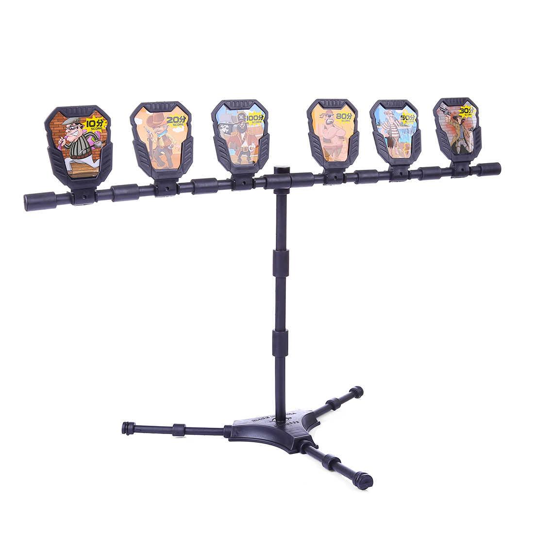 2019 جديد وصول 6 قطعة الأهداف اطلاق النار مع ملصقات وقوس ل Nerf في الهواء الطلق الصيد رغوة النبال الناسف ممارسة الملحقات