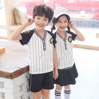 b2572966ff Raylayland Summer Short Sleeve Primary School Uniform T Shirt And Skirt  School Girl Cosplay Costume Korean