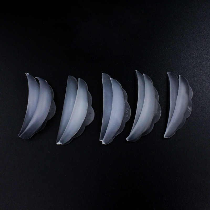 Funmix 5 Accoppiamenti Del Silicone Ciglia Perm Pad Riciclaggio Ciglia Aste Scudo di sollevamento 3D Bigodino Del Ciglio Strumenti Pastiglie Occhio di Trucco Strumenti
