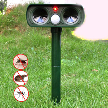 Animal Pest Mouse Repeller Outdoor Ultrasonic Solar Pest Repeller PIR Sensor Garden Bird Cat Dog Fox Repellent Keep Animals Away horn bird repeller waterproof environmentally friendly bird repeller ultrasonic animal control without battery