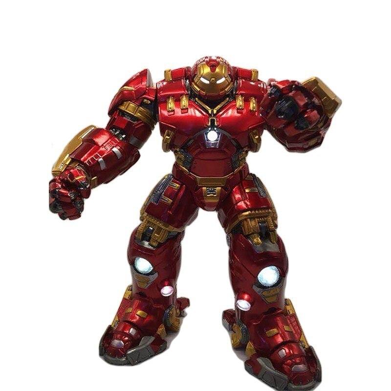 Iron Man Hulkbuster Armor MK44 25cm Light LED PVC Action Figure Marvel Legends Toys Avengers Figma Super Hero Collection Model