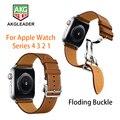 Neueste Einsatz Schnalle Band Für Apple Uhr 4 40mm 44mm Serie 3 2 1 Einzigen Tour Strap Für iWatch Gürtel Uhrenarmbänder-in Uhrenbänder aus Uhren bei