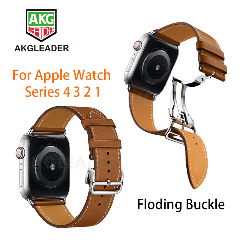 Newest Deployment Buckle Band For Apple Watch 4 40mm 44mm Series 3 2 1 Single Tour Strap For iWatch Belt Straps Watchbands Watchbands     -