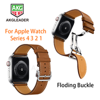 Newest Deployment Buckle Band For Apple Watch 4 40mm 44mm Series 3 2 1 Single Tour Strap For iWatch Belt Straps Watchbands
