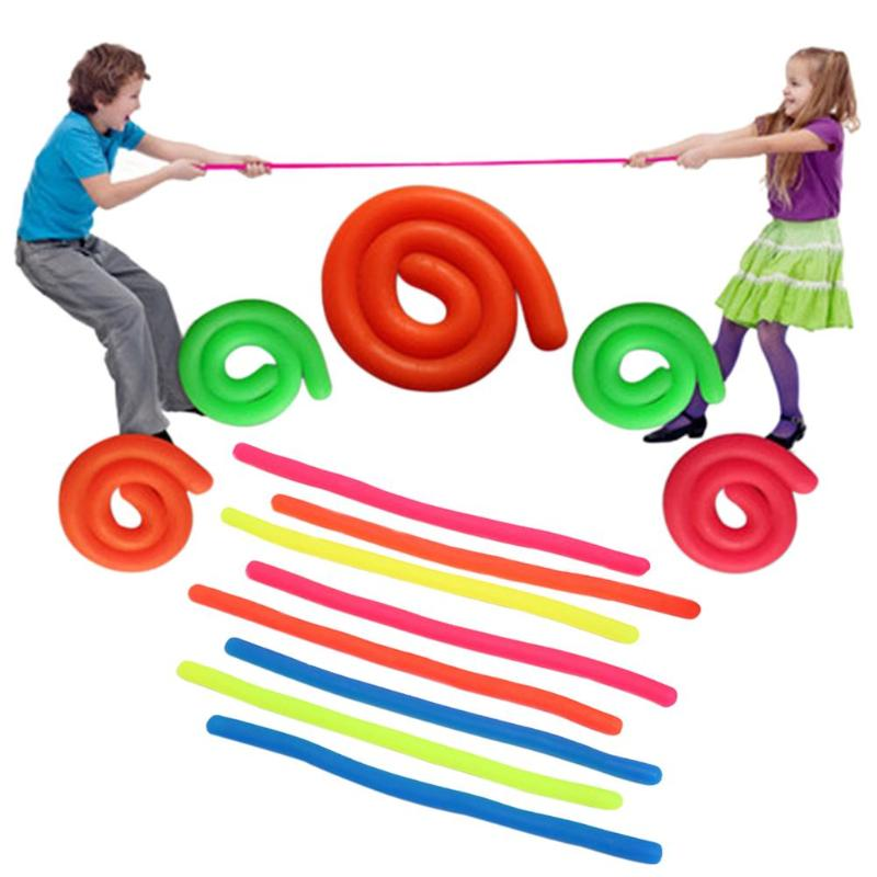 Kids Stretchable Pull String Rope Toy Elastic TPR Straight Pulling Rope Children Relieve Pressure Vent Toys Elastic Pulling Toy
