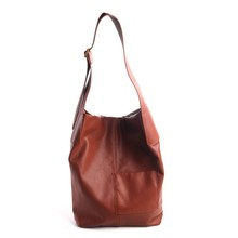 Pure Skin New simple leather bucket bag female large-capacity first layer leather diagonal bag soft leather should bag women цена 2017