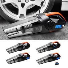 цена на Handheld Vacuum Cordless Rechargeable Hand Vac Car Vacuum Cleaner 12V Portable Vacuum Light Wet Dry for Home Car with 3 Nozzles