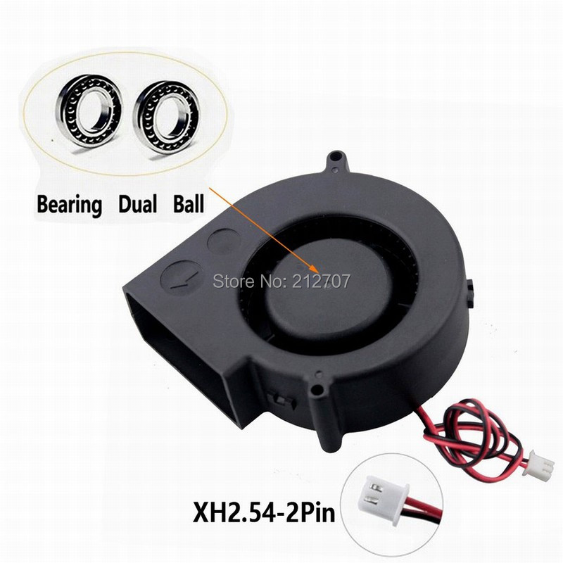 50PCS Gdstime Ball Bearing 12V 97mm 97x33mm 9733 Brushless Blower Centrifugal Cooling Fan Big Airflow 2pin gdstime 5pcs 12cm big fan 120mm x 32mm 120mm blower fan 12v ball bearing dc brushless cooling cooler 120x32mm 2 pin