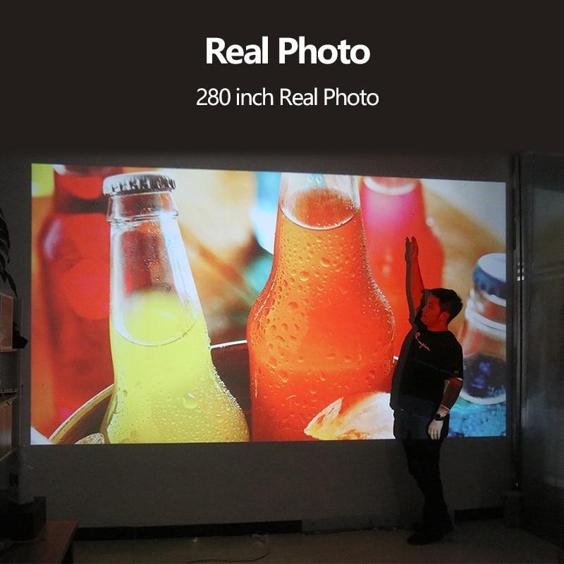 AUN proyector Full HD de 300 pulgadas de Teatro en Casa 1920x1080 P LED proyector soporte AC3. ¡5500 lúmenes! (Opcional Android WIFI) M18 - 5