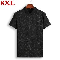 plus size 8XL 7XL Summer Guitar Printed Stand Collar Polo Shirt Men Short Sleeve Casual Men Shirts Polo Homme Cotton Mens Polos