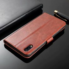 For Vivo V11 Case Luxury Retro PU Leather Wallet Flip Soft TPU Back Cover Pro Stand Phone