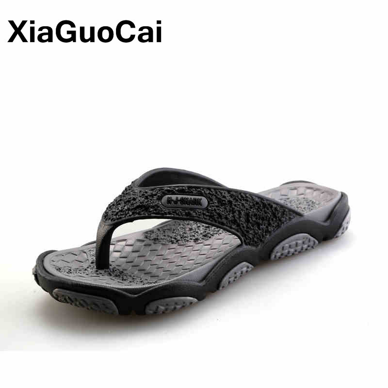 Men Message Slippers Summer New Arrival Man Flip Flops Fashion Pinch Feet Male Beach Shoes Lightweight Thongs 2019 Male Footwear(China)