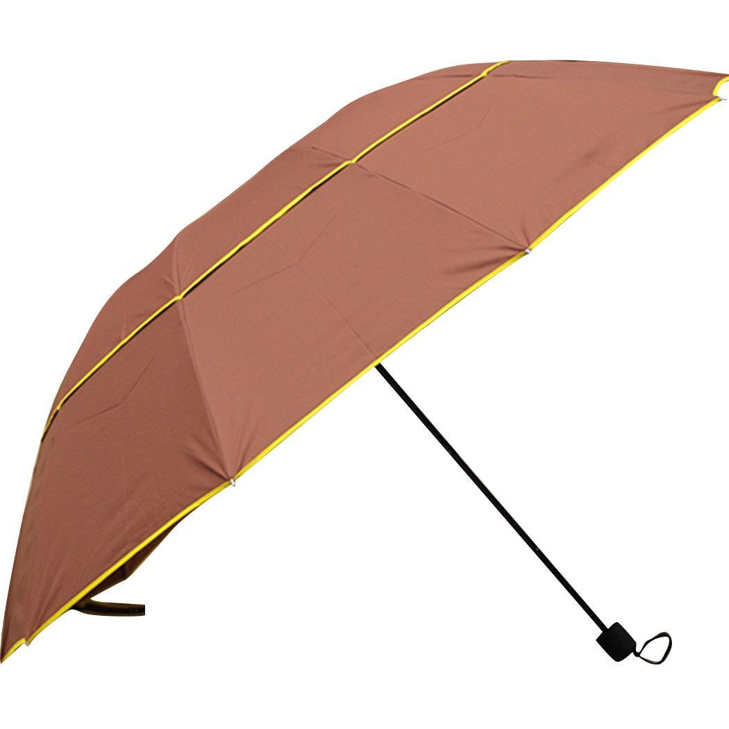 8 29 Super cm Folding Layers 2 Windproof 75 51 130 5 11 Double Manual Solid Oversized Umbrella inch Tri fold Round