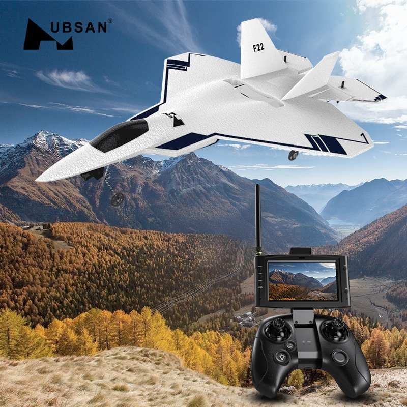 HUBSAN F22 310mm Wingspan EPO FPV RC Aircraft With 720P Camera & HT015B Transmitter Drone GPS Drone Brushed 2.4GHz 4CH RTF Drone