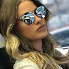 NYWOOH Cat Eye Sunglasses Women Luxury Coating Mirror Sun Glasses