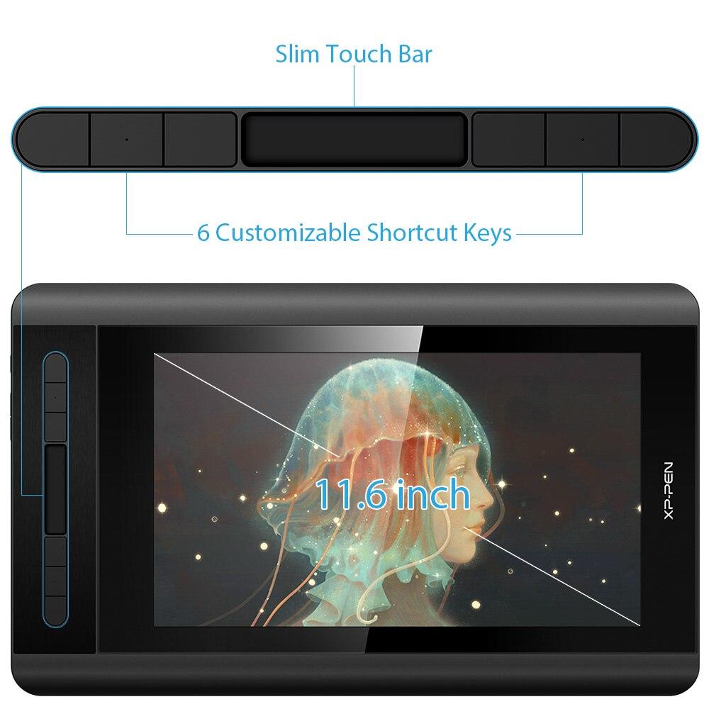 XP-PEN Artist 12 Tablette Graphique avec Ecran HD 11,6 Pouces Moniteur Dessin avec Stylet Passif 8192 Niveaux Pression - Version 2019 - 2