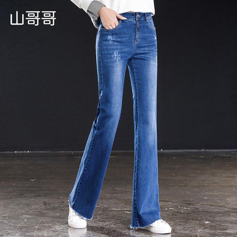 1ec90c76ca4 Azul-cielo-Vaqueros-Flare-Mujer-Denim-Pantalones-Vintage-ropa-de-mujer-de -Primavera-de-2019-pantalones.jpg