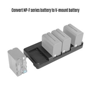 Image 1 - NiceFoto NP 04 NP F Batterij V Mount Batterij Converter Adapter Plaat 4 slot voor Sony NP F970 Batterij voor LED Video Licht