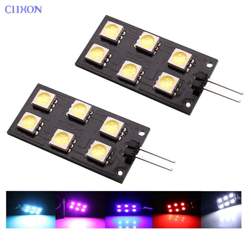 Ciihon 2X 12VDC CANBUS Error Free 6-SMD Car LED Light for <font><b>Audi</b></font> <font><b>A4</b></font> S4 B8 2008-2015 Indoor light Footwell Lights Bulbs White Blue image