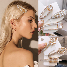 New 1PC Flower Crystal Exquesite Women Hair Clips Unique Pearl Hairpins Beads Sweet Girls Accessories