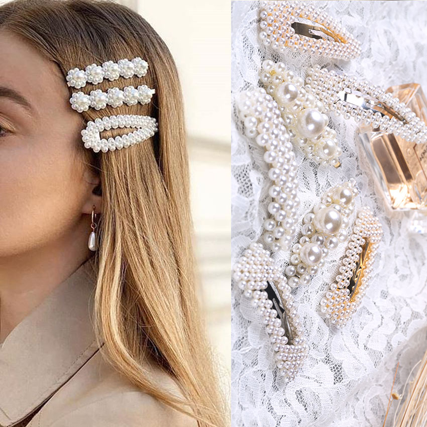 MUMUPI Women Girls Korea Fashion Metal Hairpins Imitiation Pearl Hair Clips Hairstyle Design Accessories Hair Styling   headwear